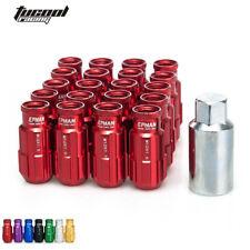 Lug Nuts 20Pcs W/Key 12x1.25 For Nissan Subaru Suzuki Aftermarket Wheel Nuts Red