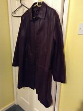 Lakeland Soft Long Brown Leather Ladies Coat Size 18