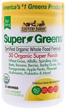 Country Farms Super Greens Banana flavor, 50 Organic 20 servings 10.6 oz