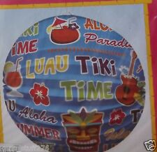 "Tiki Time Lantern, 9"" Hanging Decoration, Luau, Pig Roast, Pool Party Table Art"