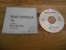 CD Pop Elvis Costello - 45 (1 Song) Promo UNIVERSAL / ISLAND sc
