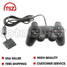 For Sony PS2 Playstation 2 Black Twin Shock Game Controller JoyPad Remote