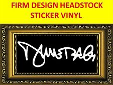 STICKER FIRM DIMEBAG DARRELL PANTERA DAMAGE PLAN WHITE VINYL VISIT OUR STORE