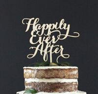 Happily Ever After Wooden Wedding Cake Topper Decoration Keepsake
