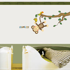 animals  zoo jungle monkey wall sticker decal children/kids bedroom
