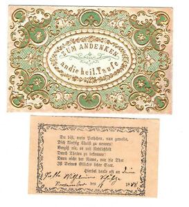 Alter Taufbrief 1888 dekorativ (A4058