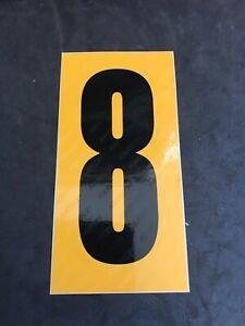 Go Kart - Kartech Number Nassa Yellow|Black - #8