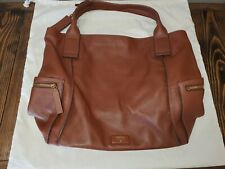 Fossil Large Emerson Satchel Tote Brown Leather