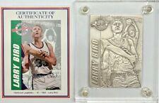 1995 Larry Bird Celtics .999 4.25 oz Silver Highland Mint Limited Edition Card