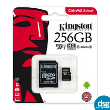 Kingston 256gb Micro SD Card SDXC SDHC Class 10 (80MB/s) UHS I with adapter