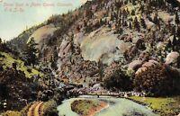 Dome Rock in Platte Canon Colorado 1908 Postcard Colorado & Southern Railway