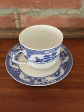 Royal Sometuke Nippon Cup Saucer Set ~ Blue White China Asia ~ Rare