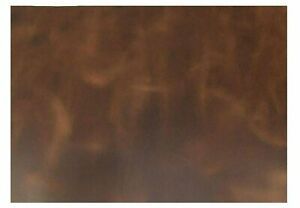 """Import Tooling Full Grain Leather Piece 16""""x18"""" 5/6oz 2mm 100% Cowhide  BROWN"""