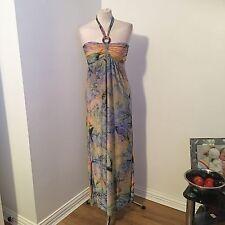 Qingyouduzhong donna vestiti donna Wear Multi Colore Maxi Abito Taglia M UK 12