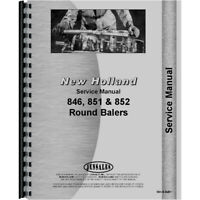 Fits New Holland 852 Round Baler Service Manual