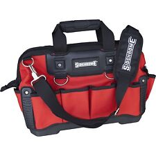 Sidchrome HEAVY DUTY OPEN TOTE TOOL BAG 440mm Rubber Grip Handle RED *Aust Brand