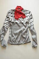 RINASCIMENTO Tie neck satin blouse UK 10 / M