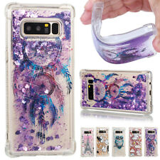 Patterned Shockproof Glitter Quicksand Soft Cover Case For Samsung Galaxy Phones