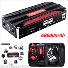 68800mAh 12V Car Jump Starter Power Emergency Battery 4 USB Charger w/ SOS Light