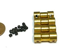 4 Pieces 2.3mm x 2.3mm 2.3x2.3 Motor Coupling Coupler Shaft Connector boat rc C2