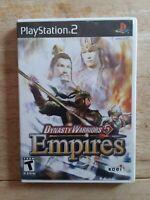 Dynasty Warriors 5: Empires (Sony PlayStation 2, PS2, 2006) No Manual Tested!