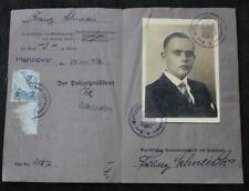 Alter Ausweis / Führerschein Klasse 3 / Hannover 1934