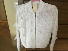 Micheal Kors Lace Butterfly Bomber Jacket, NWT, Small, orig$250 Lmt Edition