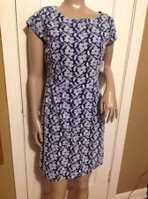 Women's Embroidered Old navy Blue Dress Size 2 Short Sleeve