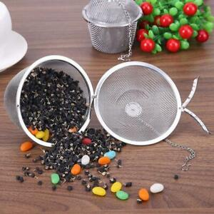 Steel Sphere Locking Spice Tea Ball Bag Strainer Mesh Infuser Filter