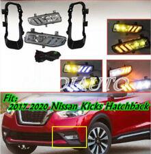 For 207-2020 Nissan Kicks LED DRL Front fog lights Driving Lights Harness switch