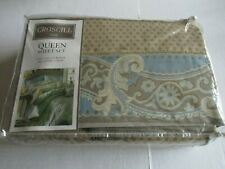 New Croscill Queen Sheet Set Flat, Fitted & 2 Pillowcases Napoleon Style 3362