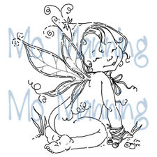 New Stampavie FAIRY KIKI Clear Stamps Girl Wings Child Garden Magic Happy