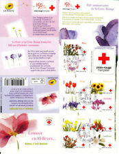 TIMBRE FRANCE NEUF BANDE CARNET AUTOADHESIF  N° BC989 ** CROIX ROUGE FLORE FLEUR