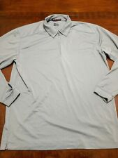 Nike Tiger Woods Collection Shirt Dri Fit Men L Long Sleeve Polo Gray