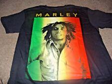 Bob Marley Men's Rock N Roll Zion Rootswear Black T-Shirt Size Large L