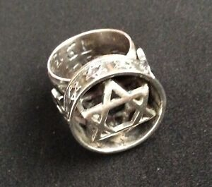 VTG  Star of David  Sterling Silver .925  Size 9 Ring  Made In Israel