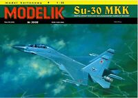 PAPER-CARD MODEL KIT -Modelik- Su-30 MKK A3 format