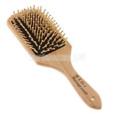 NATURAL WOOD PINS Paddle Detangling SCALP MASSAGE Hair Brush Hairbrush Comb