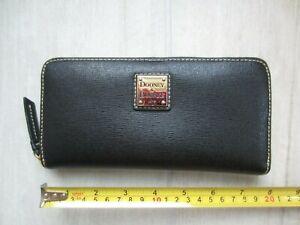 Dooney & Bourke Black Leather Zip-Around Wallet