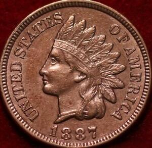 1887  Philadelphia Mint  Indian Head Cent