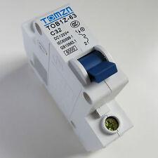 32A DC Circuit Breaker MCB Solar Fuse 125v Single Pole 1P Ebike TOB1Z-63 C32