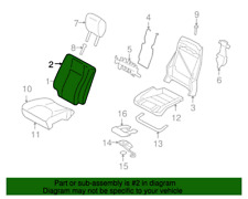 Genuine Ford Lincoln Navigator 07-11 Seat Back Foam Cushion Pad W/ Heated Seat