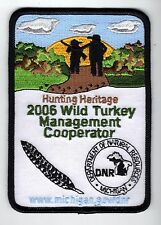 2006 MICHIGAN DNR SUCCESSFUL TURKEY HUNTER PATCH -DEER-TURKEY-ELK-MOOSE-FISHING