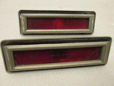 75 76 77 78 79 Chevy Nova Omega Rear Side Marker Light Lamp Lense & Chrome Bezel