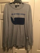 G-Star Raw Size Large L Organic Cotton Long Sleeve Graphic Tee Shirt