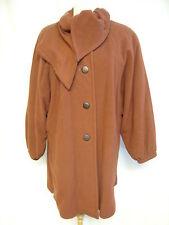 Ladies Coat Windsmoor M, rust wool blend, vintage 80s, oversized, bat wings 0697