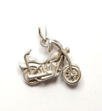 925 Sterling Silver CHOPPER MOTORBIKE BIKE MOTORCYCLE Pendant 5g