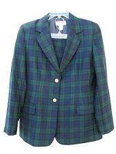 PENDLETON Women's Green Plaid 2 Piece Suit Top Blazer and Pants 100% Wool Sz 10