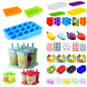 Multi-Styles Silikon Eiswürfelform Cube Eiswuerfelbehaelter Mit Deckel Ice  neu