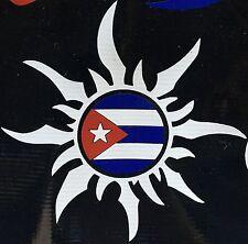 Cuban Sun Cuba National Flag Car Decal Sticker